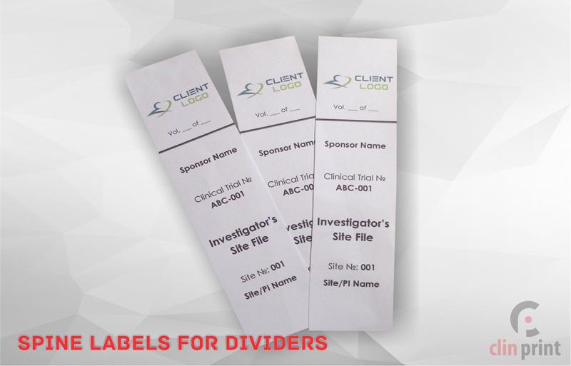Spine Labels For Dividers