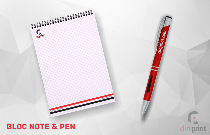 Bloc Note and Pen