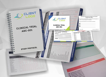 Recruitment & other materials used in clinical trials