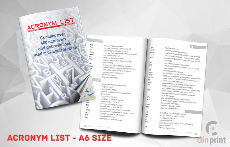 Acronym List - Clinprint